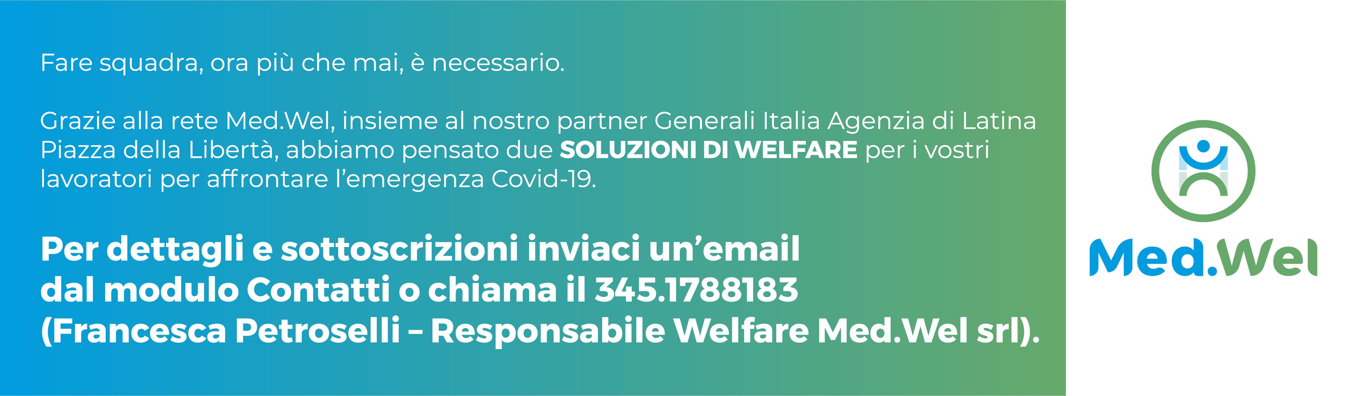 Le soluzioni Med.Wel e il partner Generali Italia per affrontare l'emergenza Condi-19